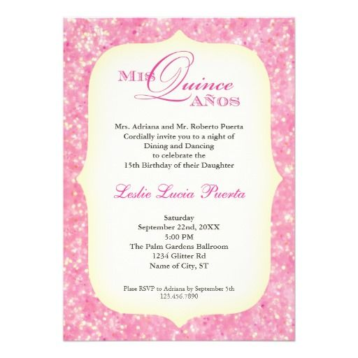 Quinceanera Invitation Wording Spanish Invitation Templates