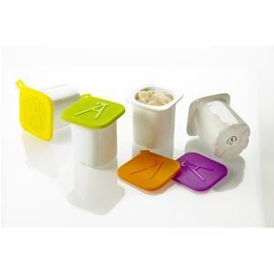 Petits Pots De Yaourt En Porcelaine Avec Couvercle En Silicone
