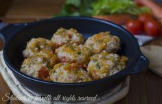 Photo of STEWED MEATBALLS in FRYING PAN not fried and with an ingredi…