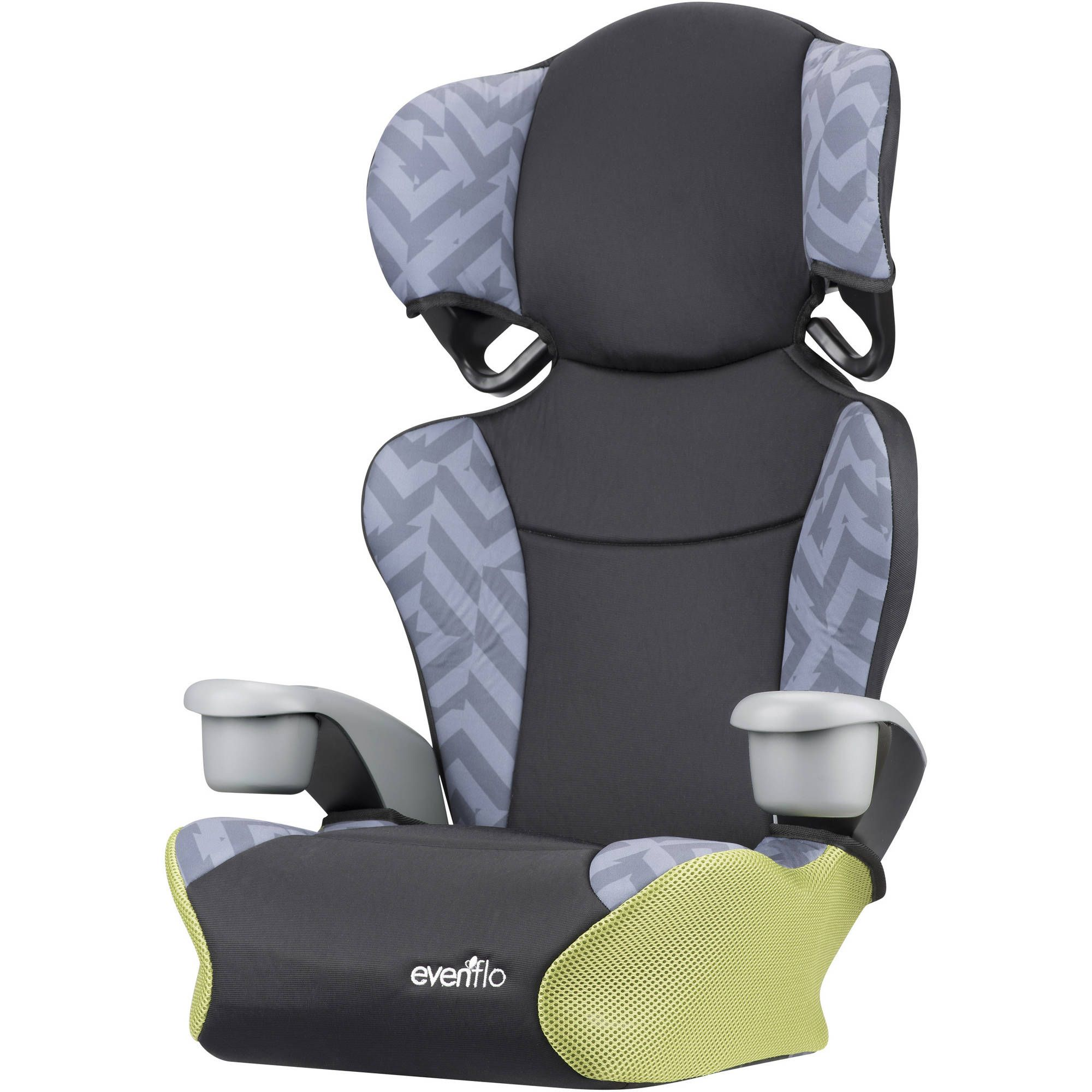 Evenflo Kid Sport High Back Booster Car Seat Goody Two Tones 29 88 Usd 2 Seats In 1 Removable For Easy Transition To A No