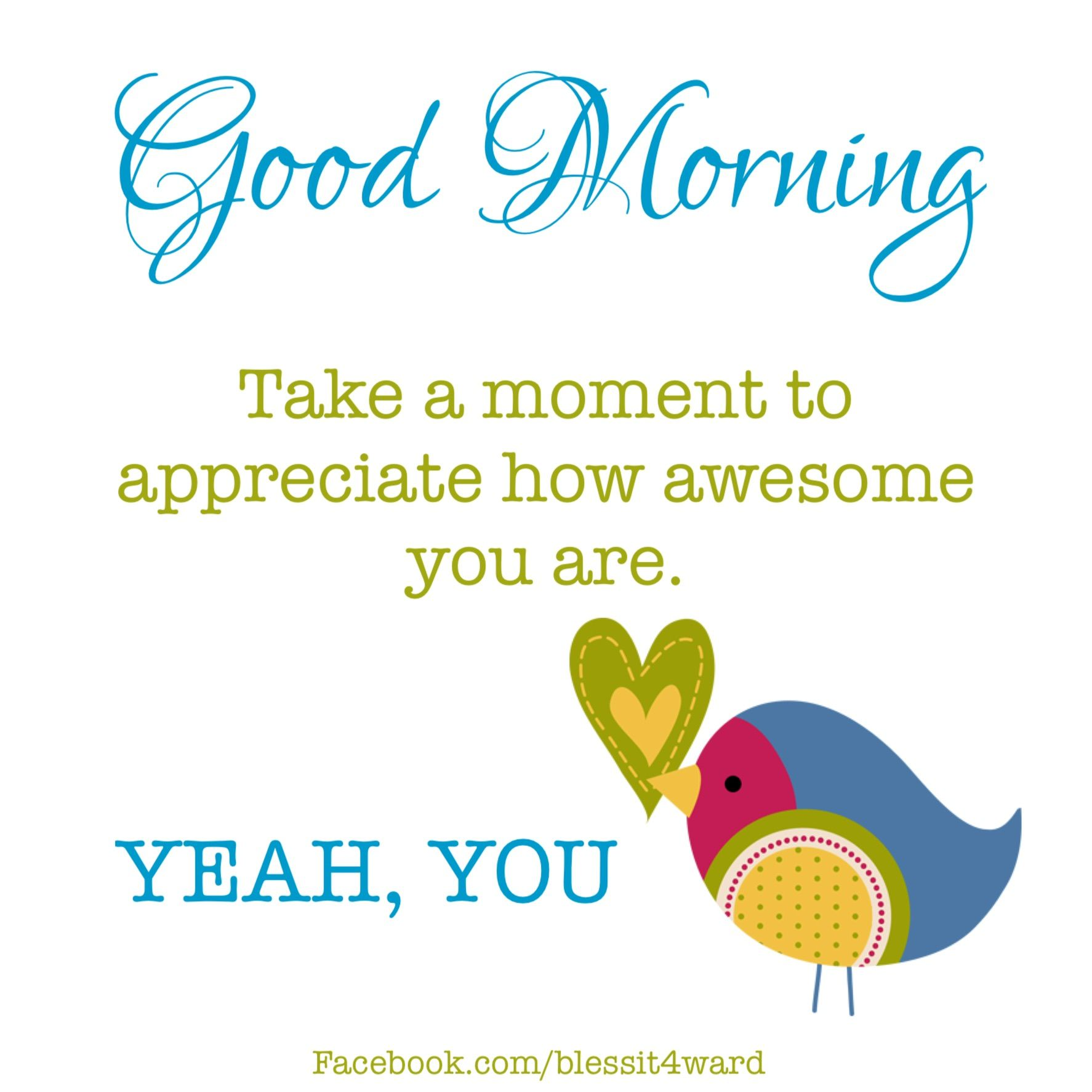 Good Morning Take A Moment To Appreciate How Awesome You Are X Good Morning Friends Quotes Good Morning Quotes For Him Morning Greetings Quotes