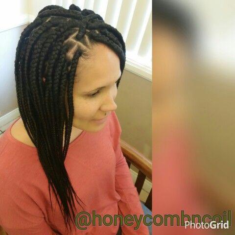 Fantastic Big Box Braids Style Google Search Creative Hair Styles Short Hairstyles Gunalazisus