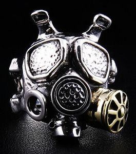 Gas Mask Ring.  Wonderful Design. It will be mine.  My hands feel naked, don't like it.