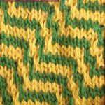 easy knitting stiches Zebra