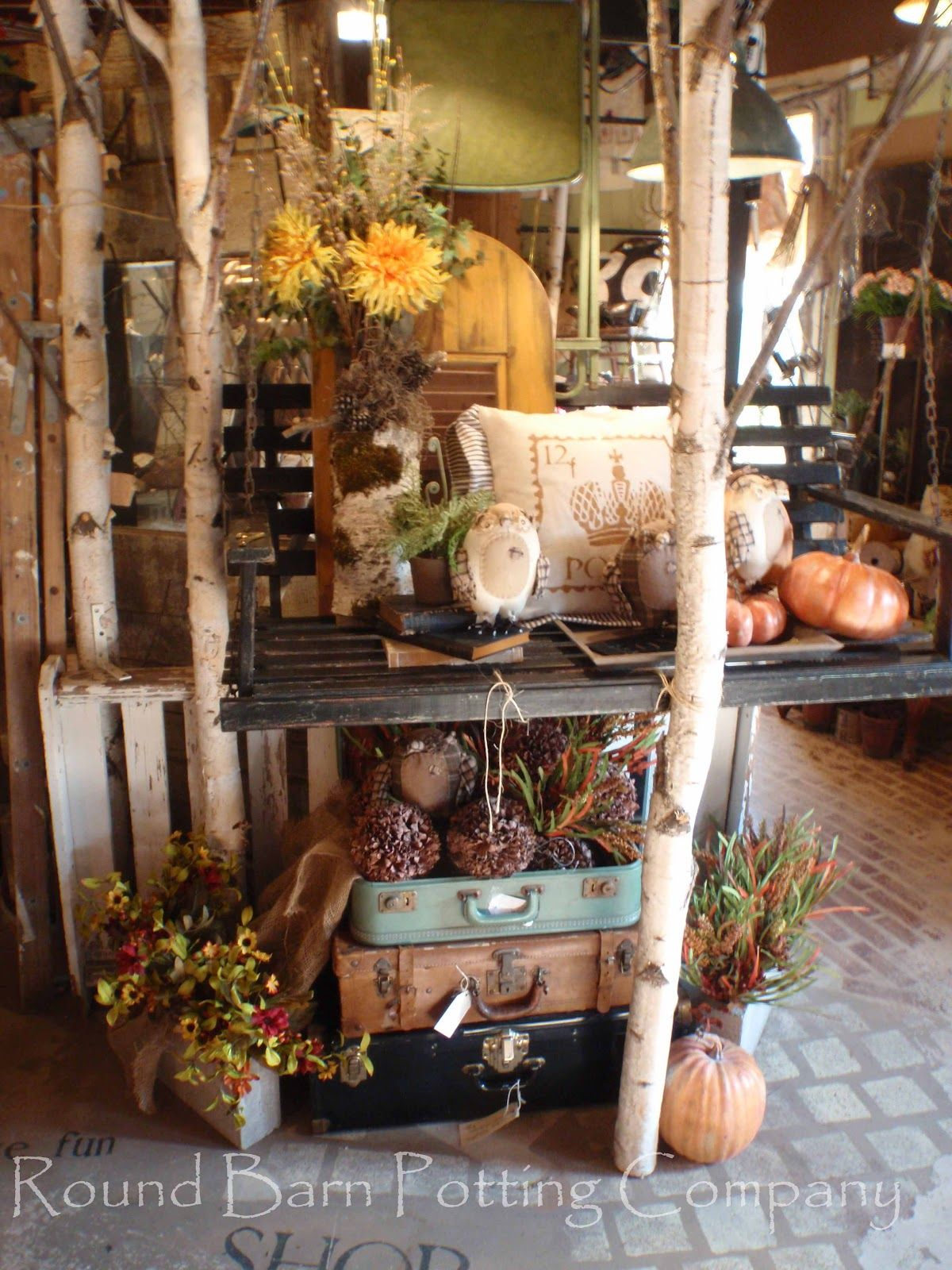 Round Barn Potting Company Fall Display Fall Is In The Air
