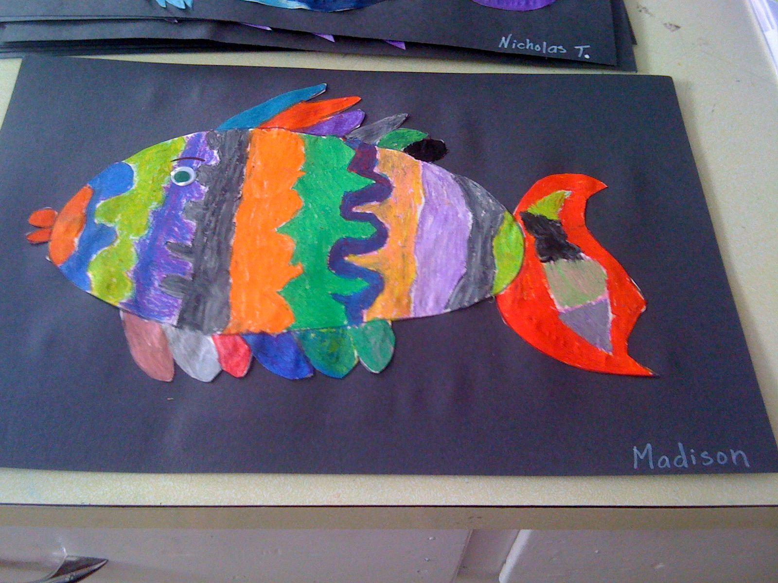 Oil Pastel Fish