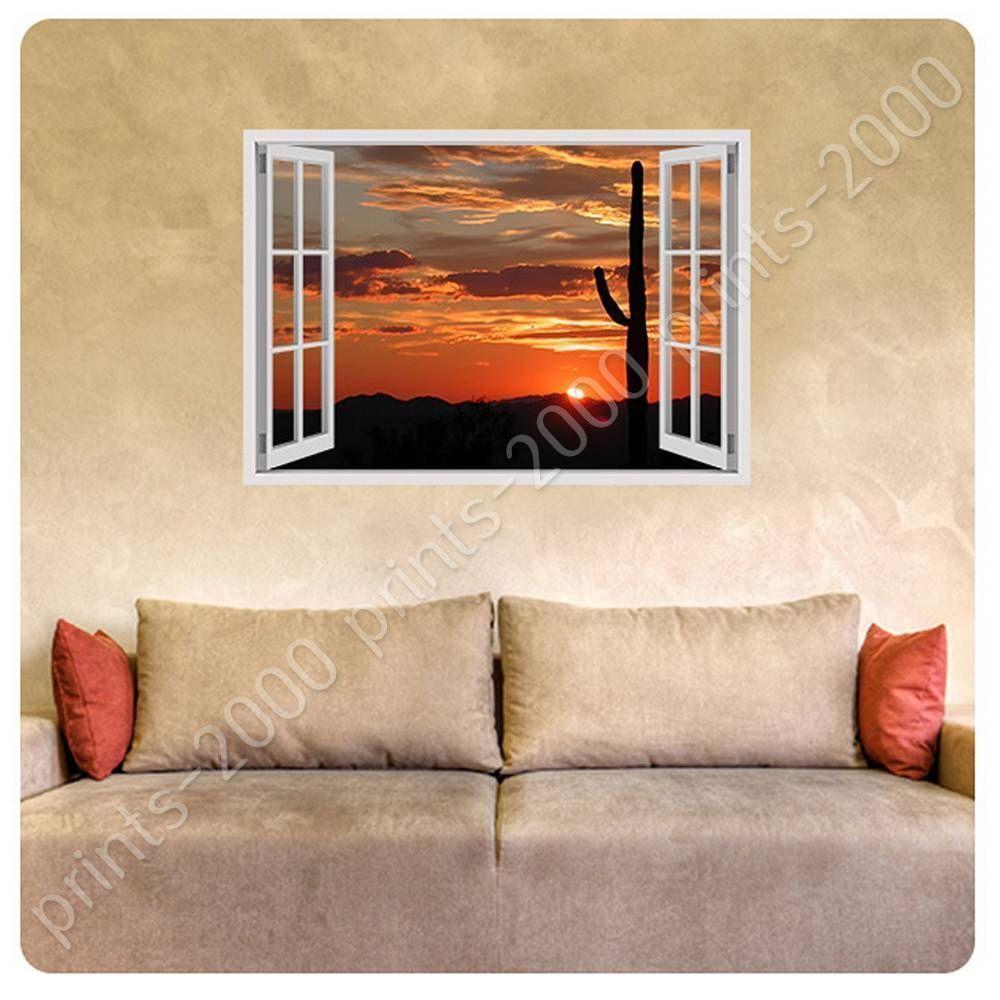 Poster or sticker decals vinyl arizonas landscape fake d window art