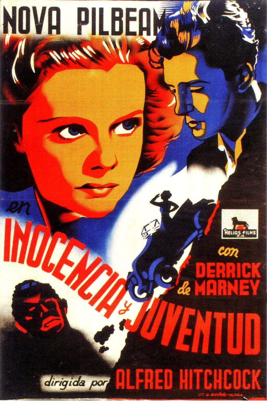 Young and Innocent aka Inocencia y Juventud (1937, dir. Alfred Hitchcock) Spanish poster