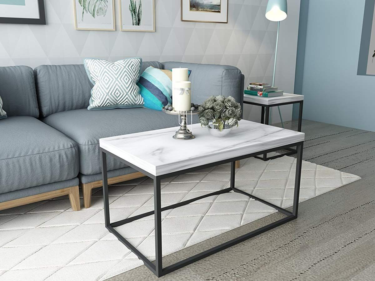 Faux marble top coffee table coffee table living room