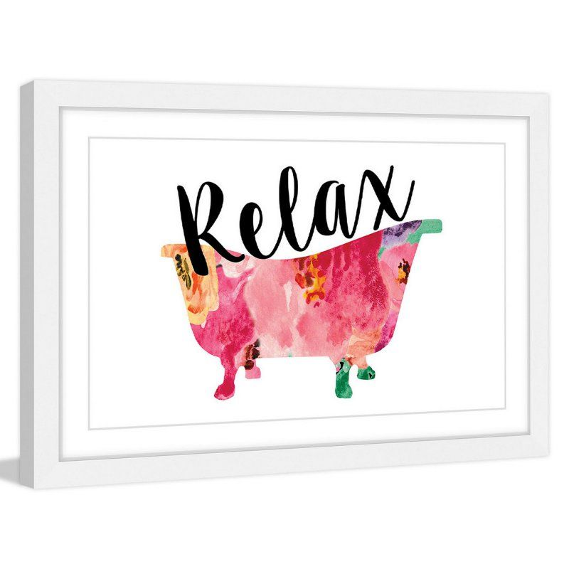 Marmont Hill Relax Tub Framed Wall Art - MH-DIAALC-01-WFP-36