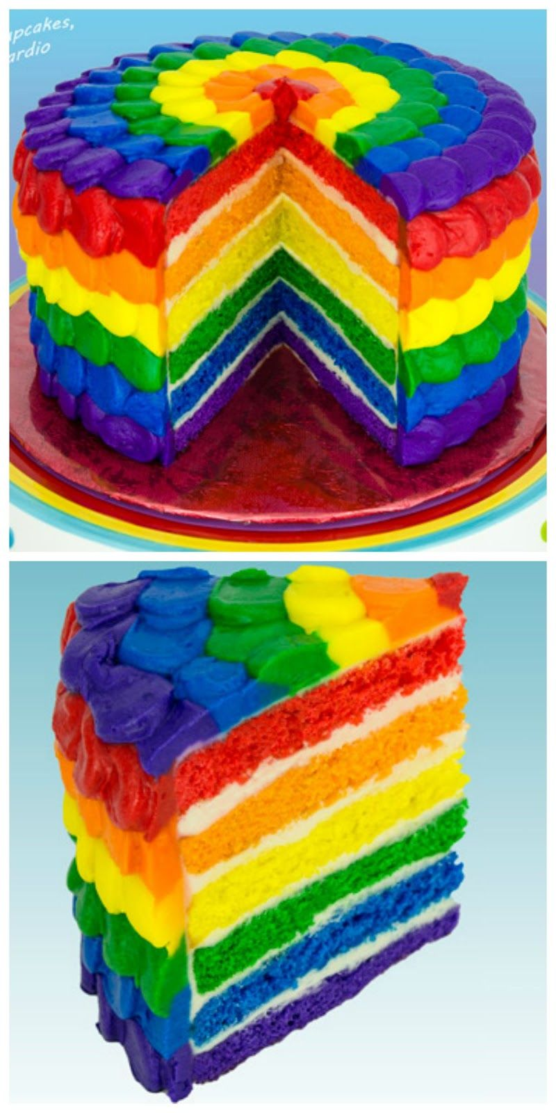 Recipe How To Make A Rainbow Cake Tutorial Handy Homemade