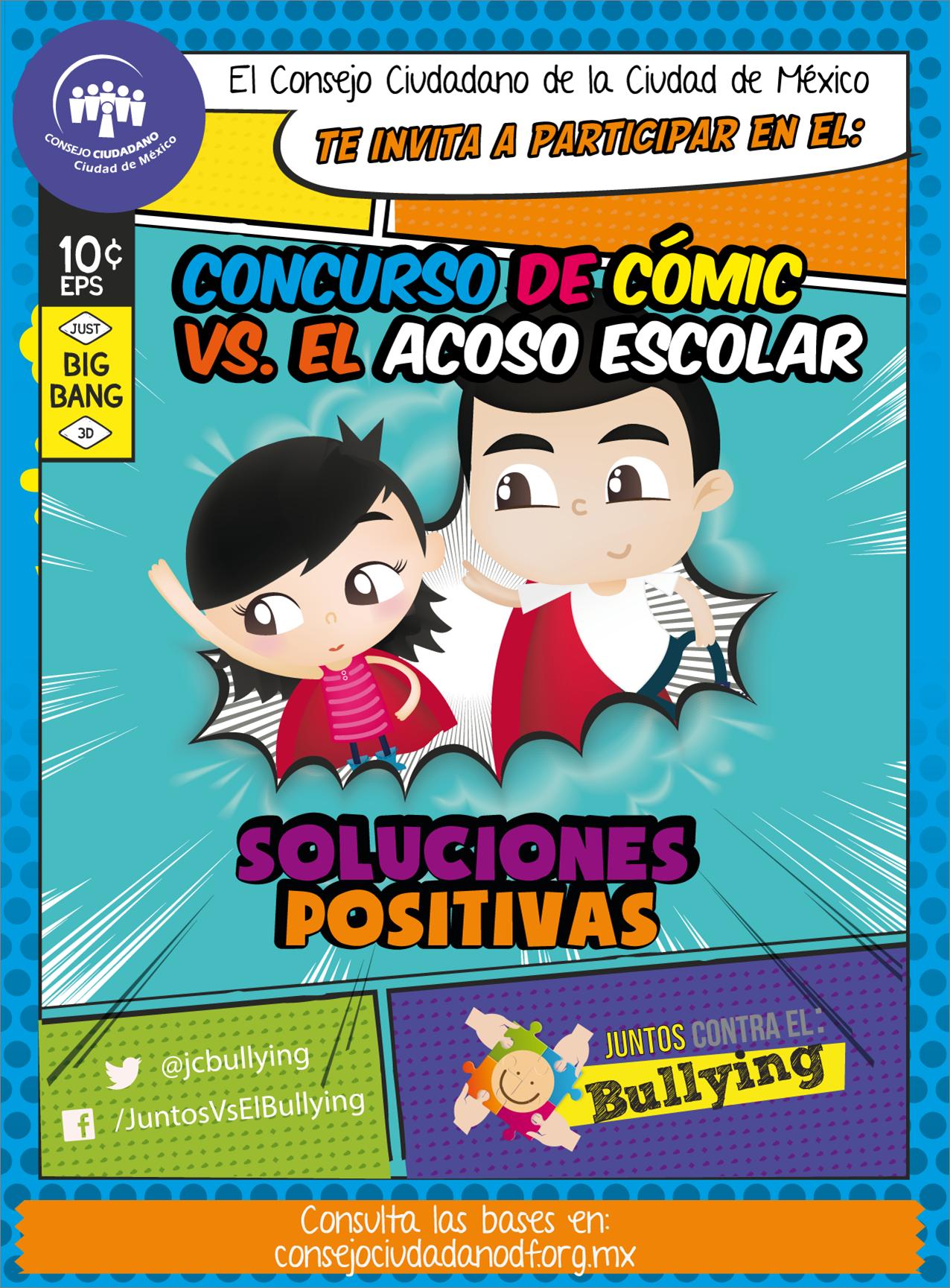 #Concurso: Conoce las bases de la convocatoria y participa en el 1er Concurso de Cómic Vs. el Acoso Escolar #ConsejoCiudadanoMx