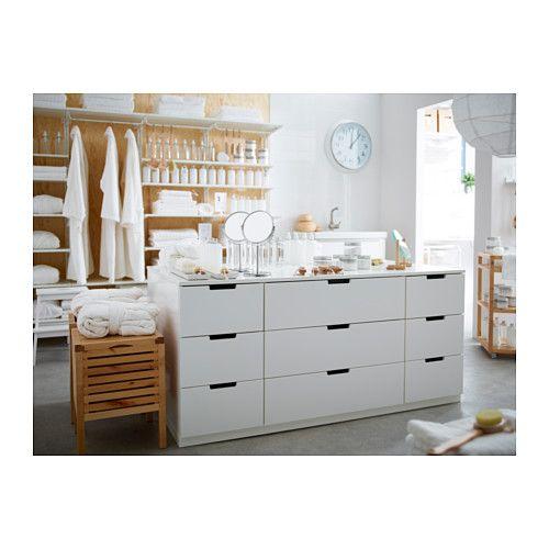 Kommode ikea  NORDLI Kommode mit 9 Schubladen, weiß | Ikea, Drawers and White white