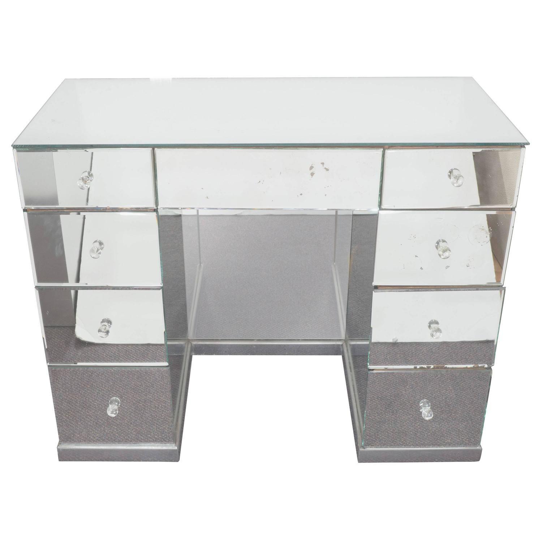 hollywood regency mirrored furniture. Hollywood Regency Mirrored Art Deco Desk Furniture