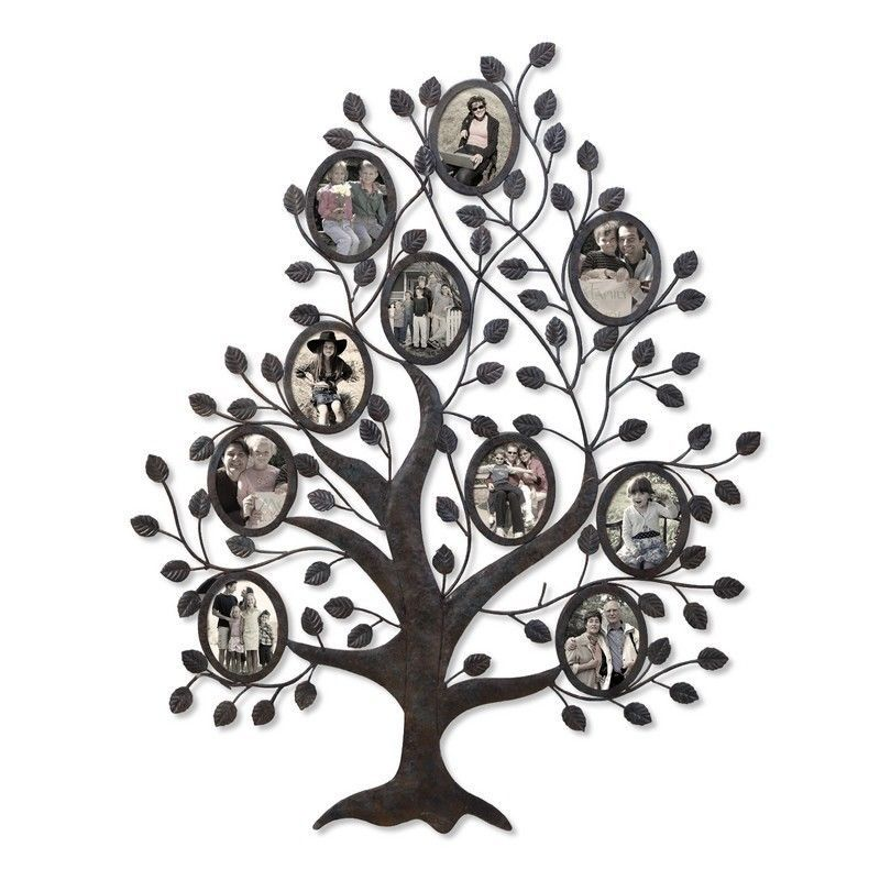 Family Tree Picture Frame Wall Hanging adeco decorative black metal family tree wall hanging collage