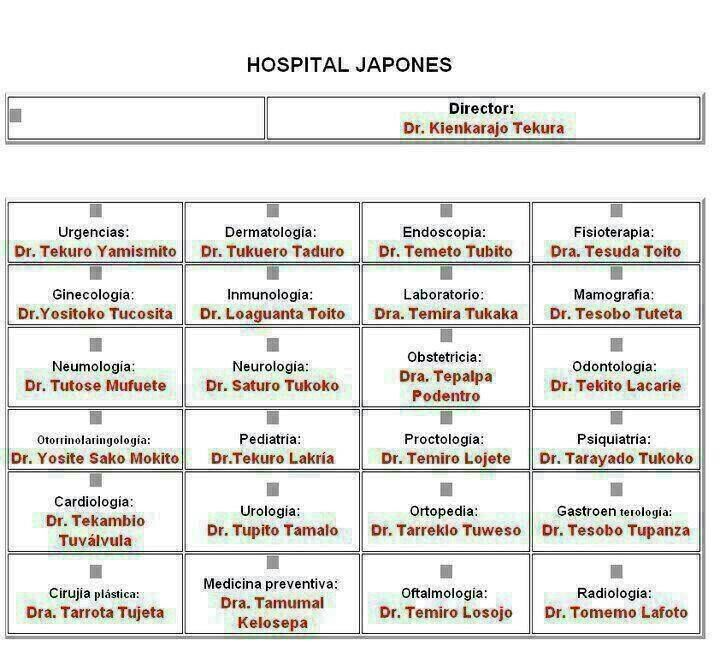 Japonesitos Chistes Pinterest - hospital organizational chart