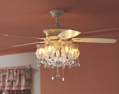 Romantic ceiling fan ceiling fans ceiling and chandeliers 28000 cream colored ceiling fan has chandelier with 6 lights each takes 13 aloadofball Gallery