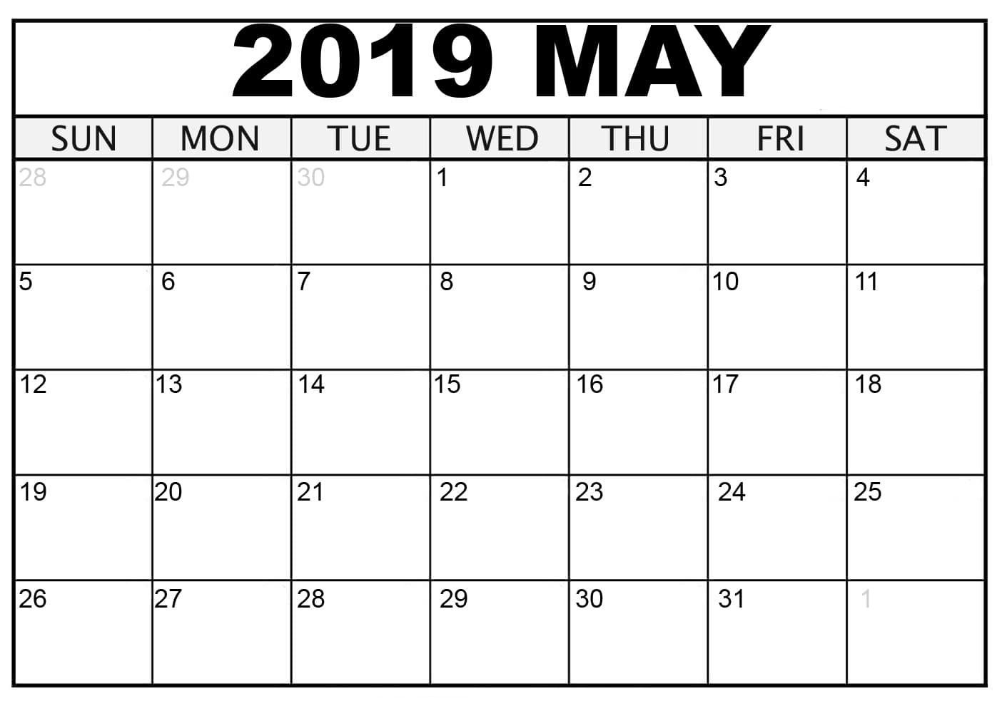 photo regarding Printable Calendar for May known as Could possibly 2019 Printable Calendar Ornamental May perhaps 2019 Blank
