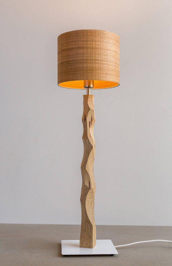 Bedside Table Lamp Wooden Bedside Lamp Desk Lamp Veneer Shade