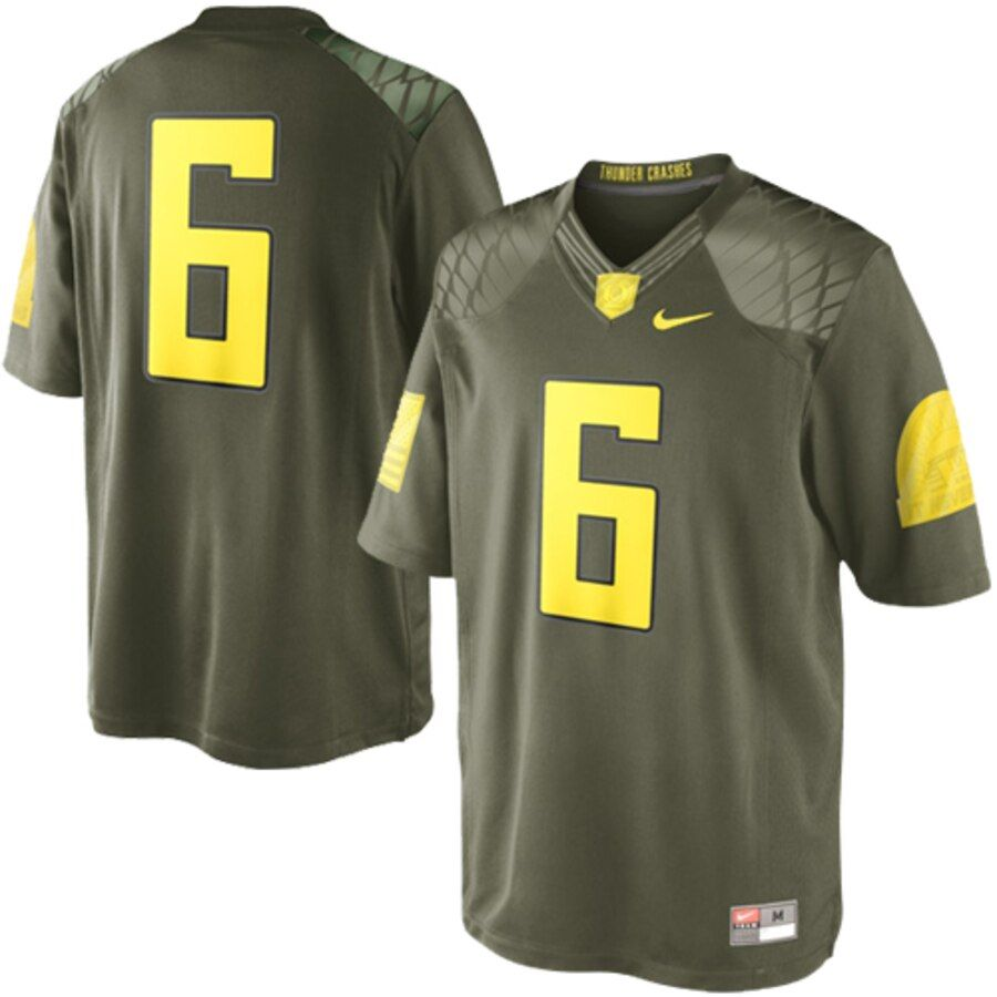 Nike oregon ducks 6 limited edition military jersey