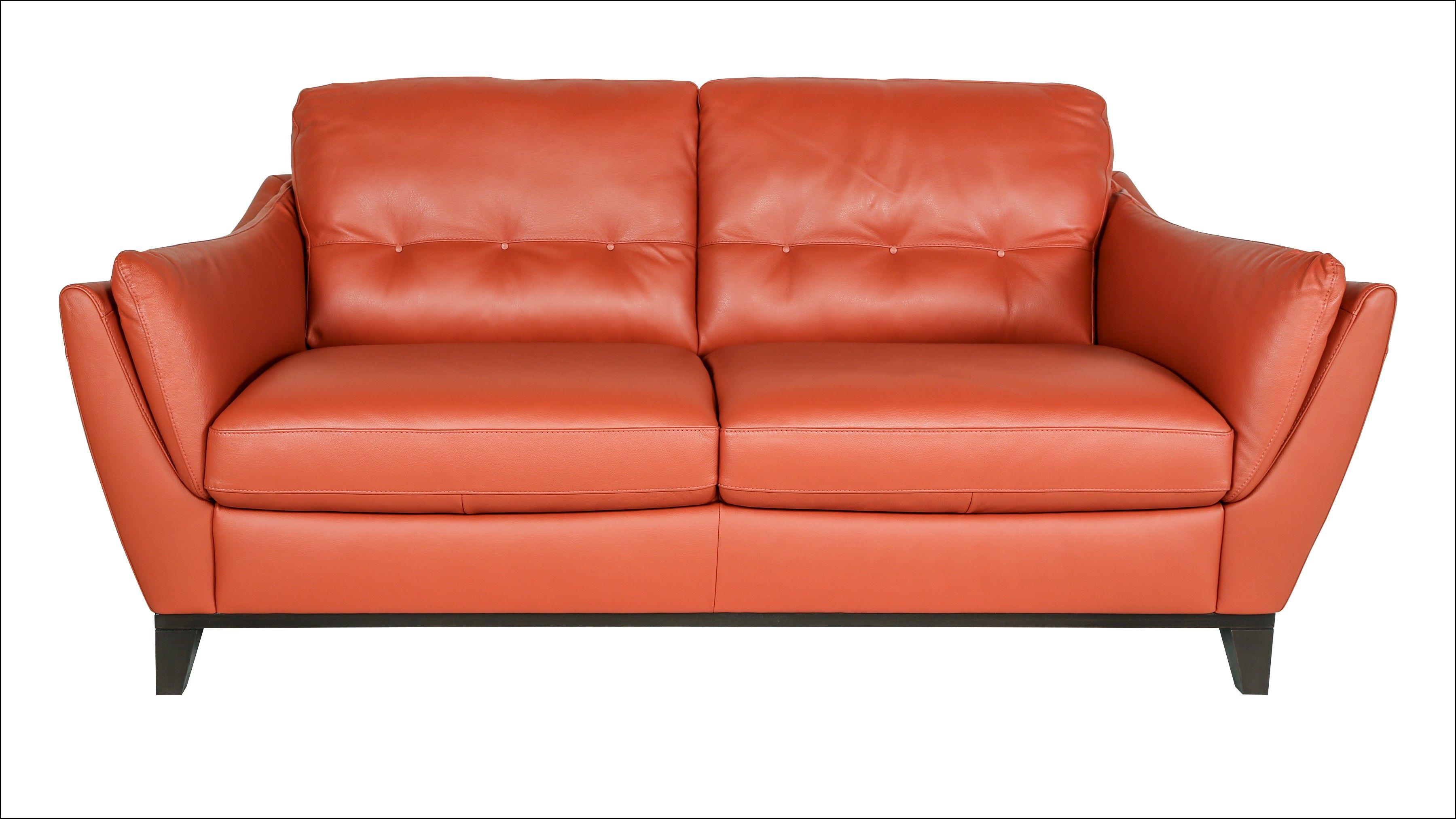 Terracotta Leather Sofa