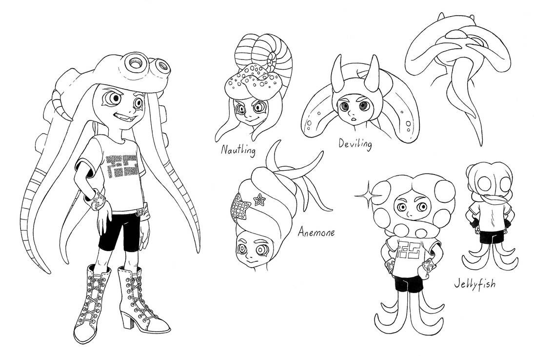 Splatoon Coloring Pages Best Coloring Pages For Kids Coloring Pages Coloring Pages For Kids Octopus Coloring Page