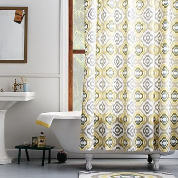 Floral Ikat Shower Curtain #westelm