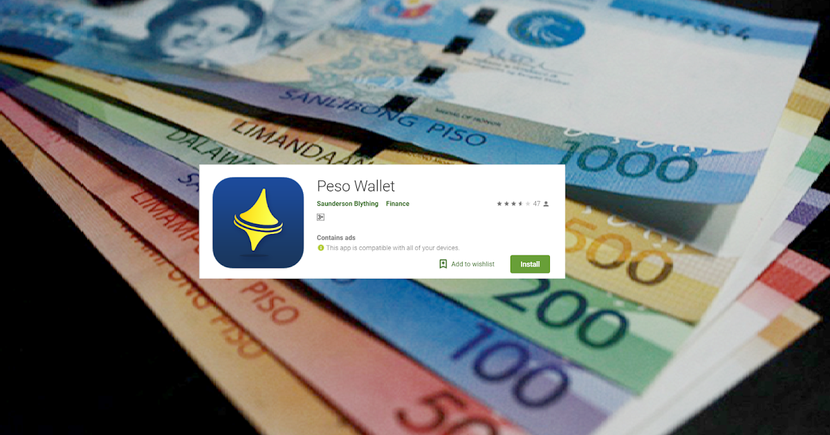 Peso Wallet is an online loan app, which can help you to