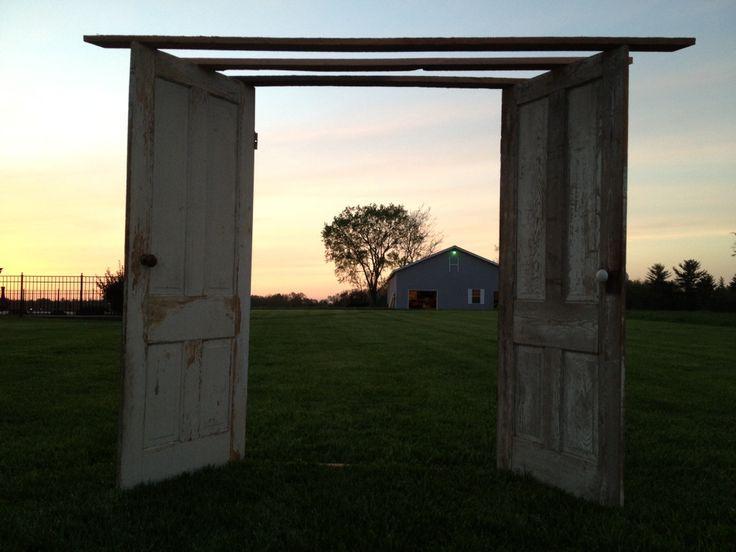 Barn Wood Wedding Arch   Wedding arch made from barn wood old doors and knobs & Barn Wood Wedding Arch   Wedding arch made from barn wood old ... pezcame.com