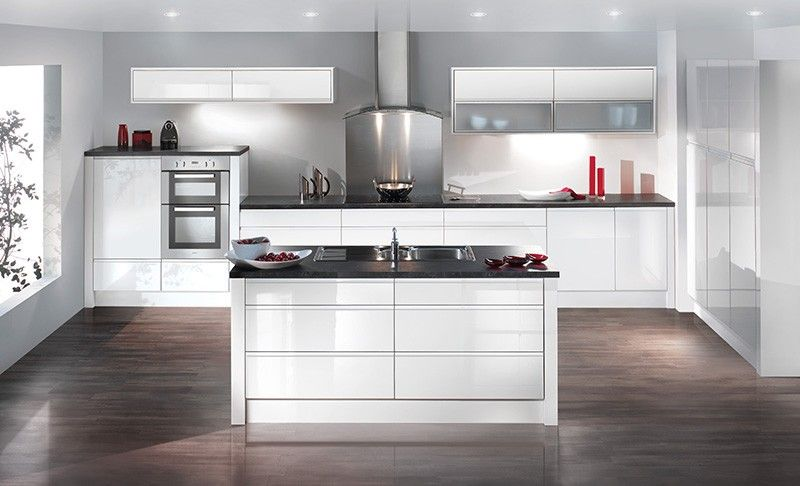 image result for what flooring with white gloss kitchen. Black Bedroom Furniture Sets. Home Design Ideas