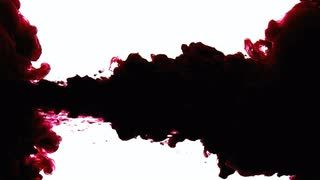 Ink drop vintage paper  Dark red ink dropping in a water tank