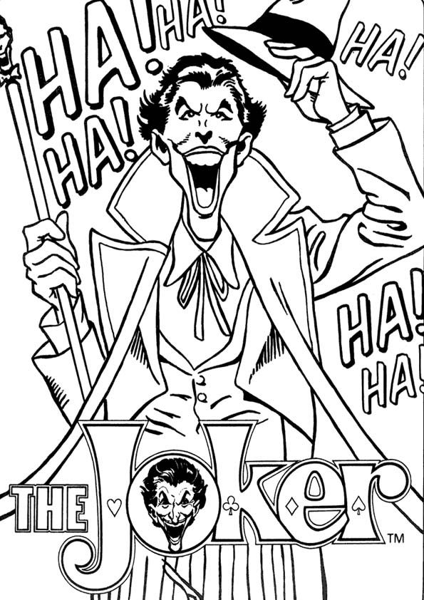 Pin By Deborah Hopkins On Many Faces Of The Joker Batman Coloring Pages Joker Superhero Coloring