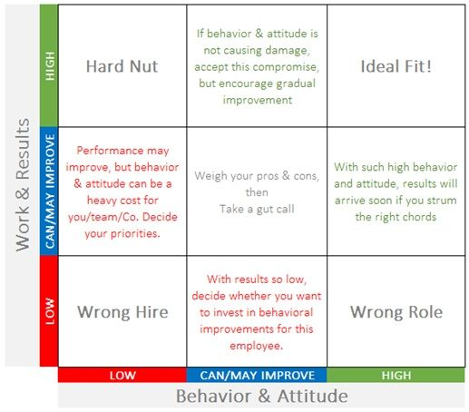 performance and attitude matrix