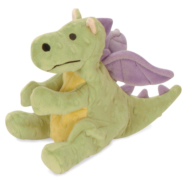 Godog Chew Proof Kevlar Type Baby Dragon Dog Toy With Chew Guard