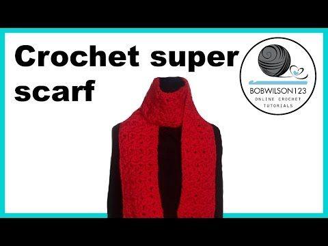 Crochet Cluster V stitch scarf/blanket tutorial - YouTube | crochet ...