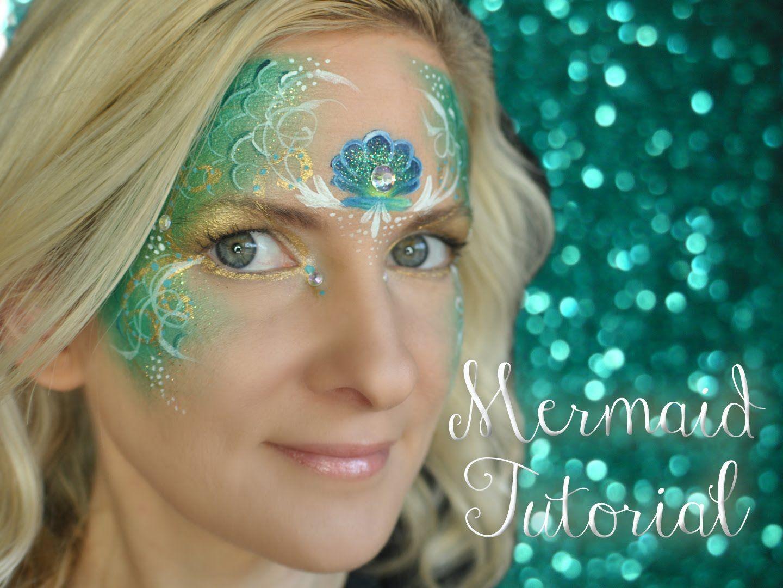 Mermaid Face Painting Tutorial #facepaint #facepainting # ...