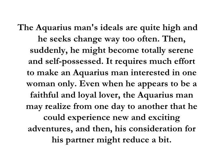 How To Seduce A Aquarius Male