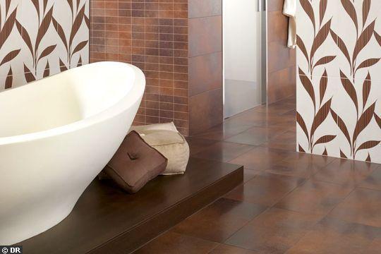 En archives  un carrelage imitation cuir projet salle de bain