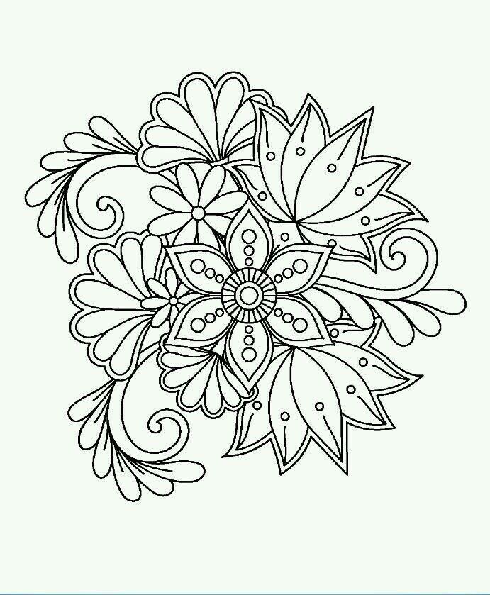 floral in 2020   mandala coloring pages, mandala coloring
