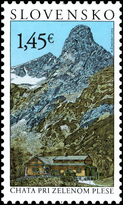 Slovak Stamps Tatra Motifs Chalet At Zelene Pleso Postage Stamps Stamp Postal Stamps