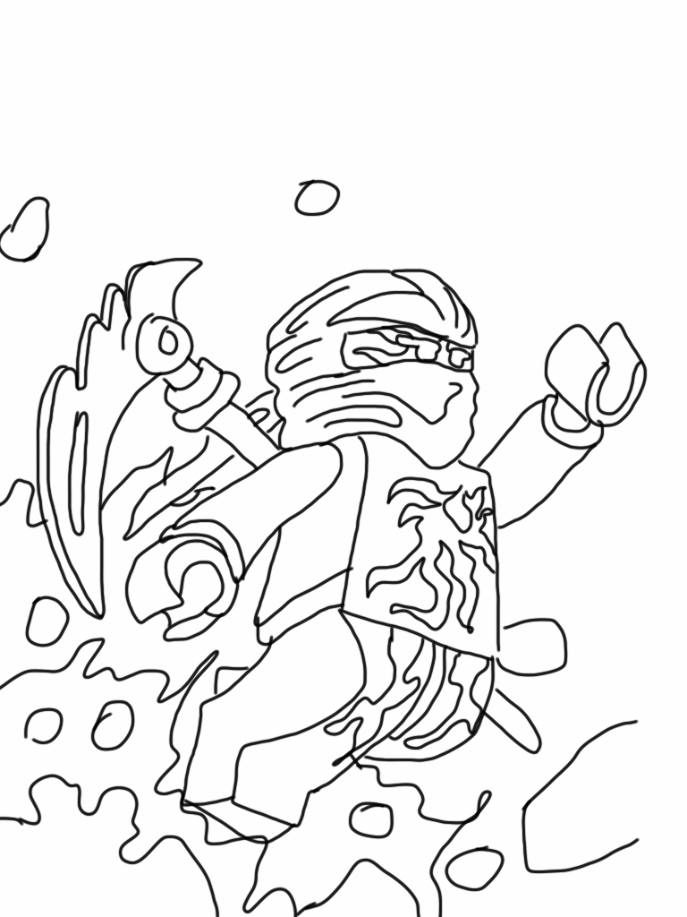 Cole ninjago coloring games online for kids - Lego Ninjago Cole Coloring Pages