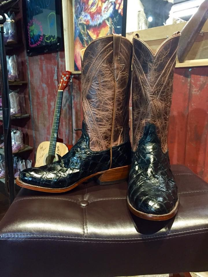 Slick Black Amazon River Monster - Premium Cowboy Boots - Rios of Merc – Texas National Outfitters