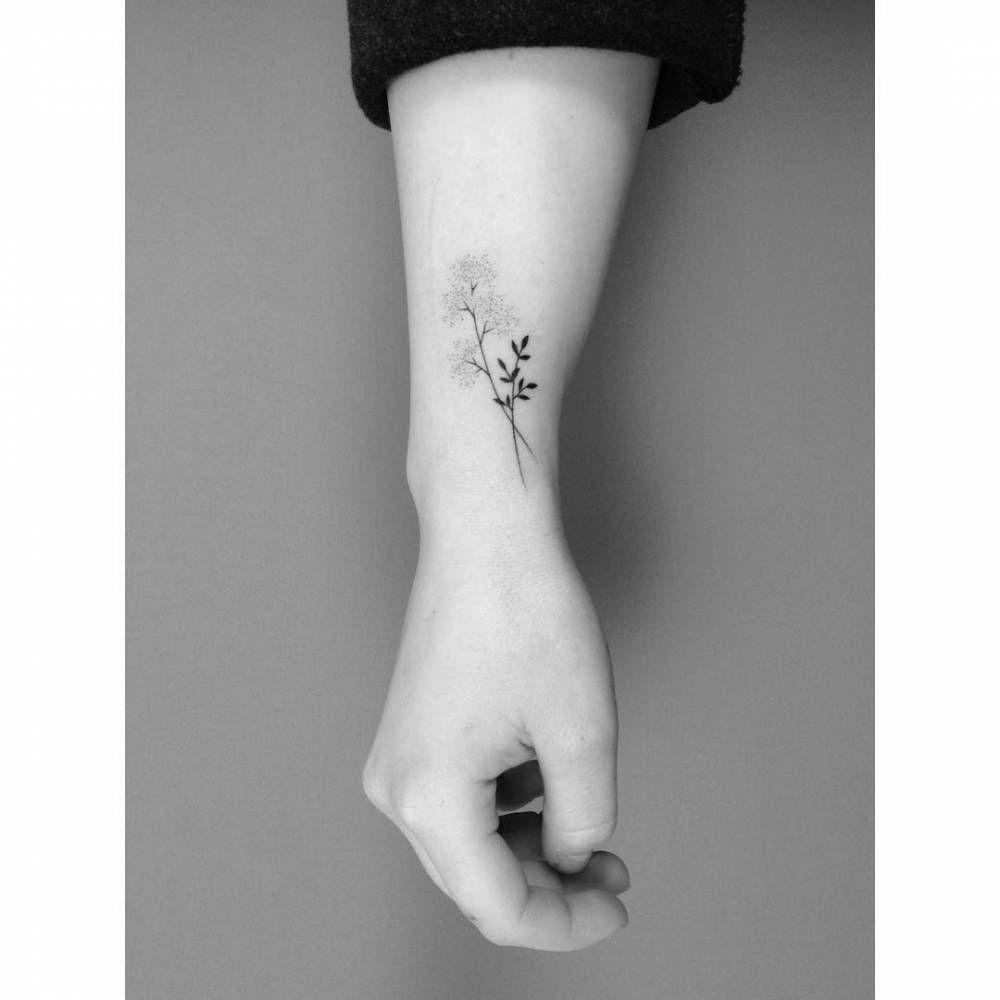 7f2c93cec583b Hand poked flowers on the wrist. Tattoo artist: Lara M. J. | Tattoos ...