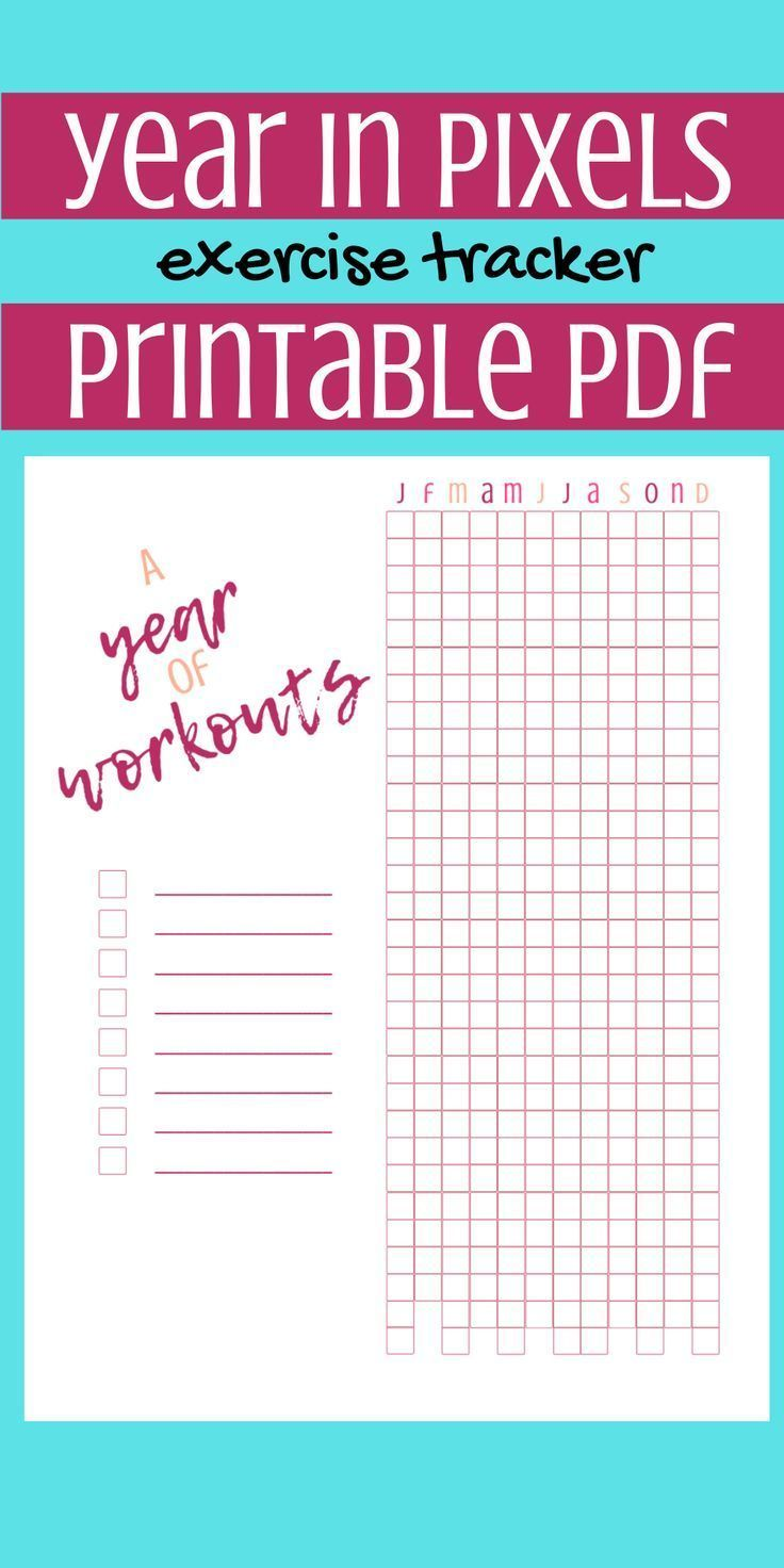 Great Fitness Planner -  Great addition to your bullet journal or fitness planner. A year of workout...