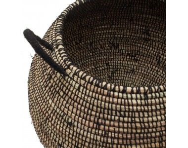 Delbi straw laundry basket - ethically woven by Senegalese women.