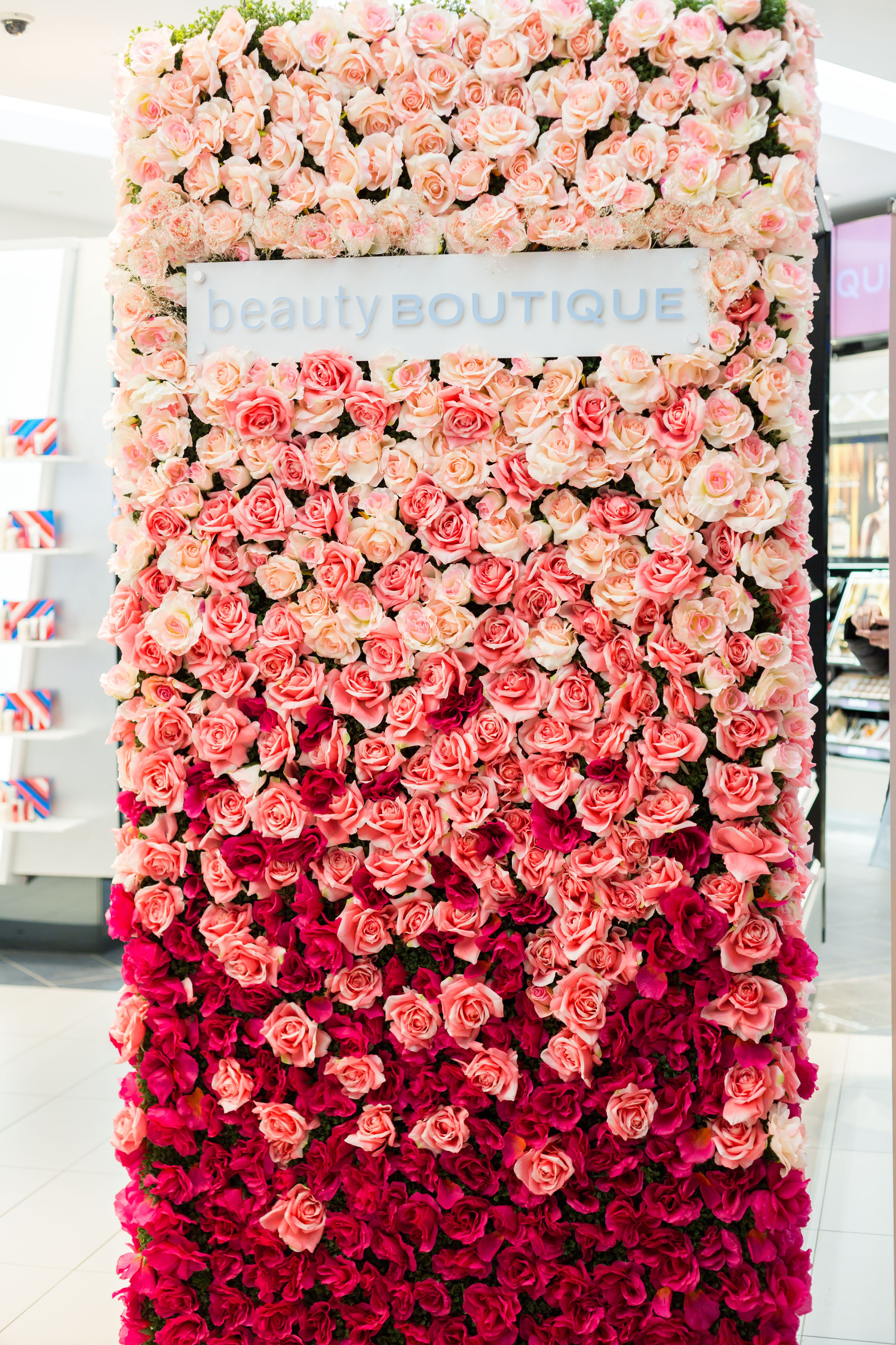Shoppers Drug Mart Rose Wall Flower Wall Backdrop