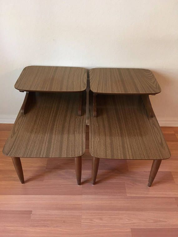 Best Pair End Tables 2 Tier Step Back Side Tables Retro Oeg 400 x 300