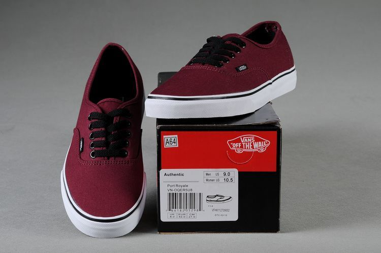 vans shoes burgundy authentic