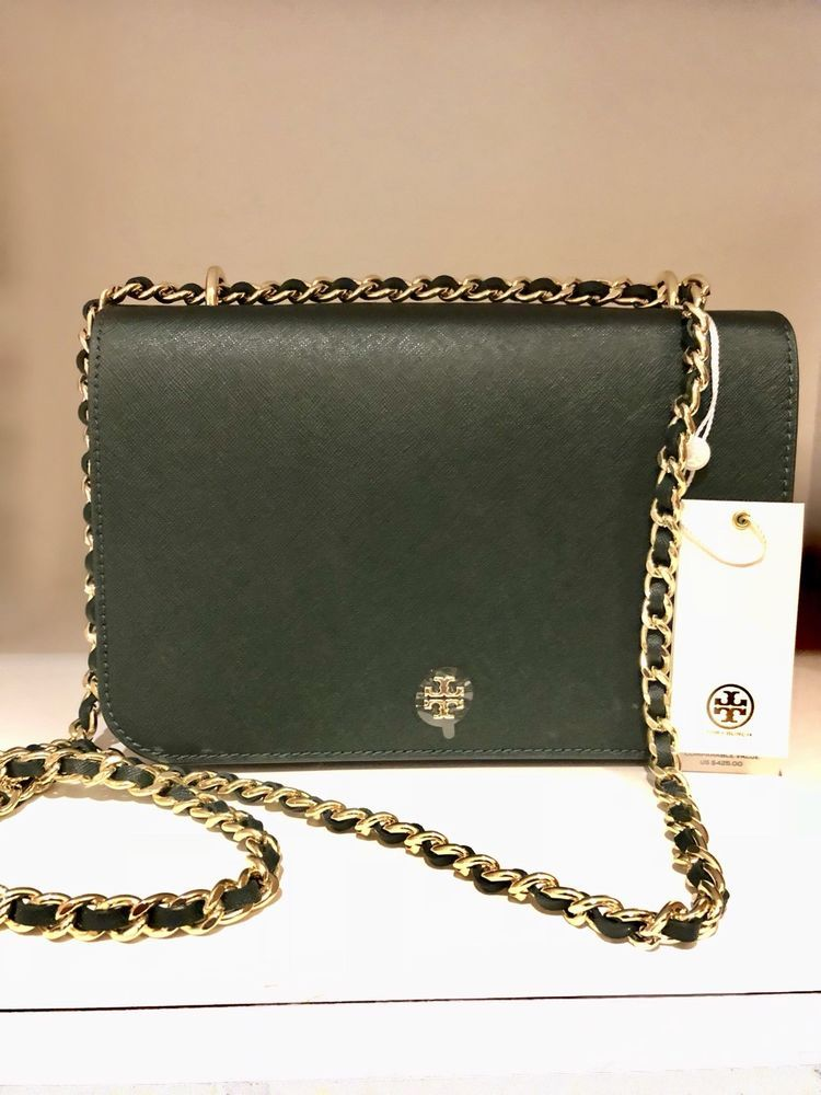 fae5d3d06ccc Tory Burch Emerson Adjustable Shoulder Crossbody Bag in Jitney Green MSRP   425  purses  fashion