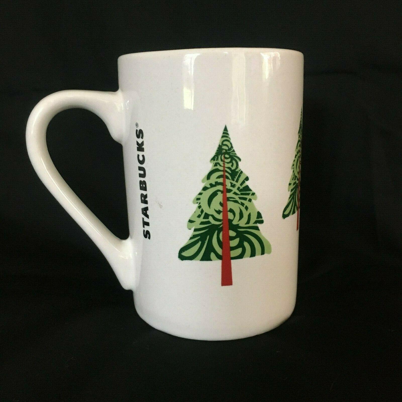 Starbucks 2011 Coffee Cup Mug Holiday Christmas Tree 10 oz